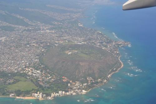 Хаваи, над кратера на вулкана Даймънд Хед