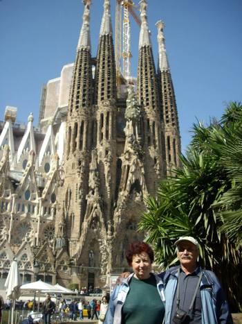 Барселона, ние пред Саграда Фамилия