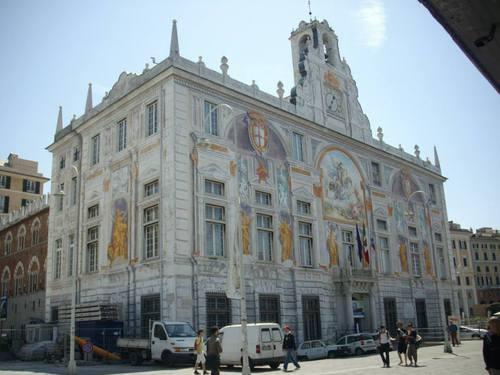 Италия, Генуа, сграда на пристанището