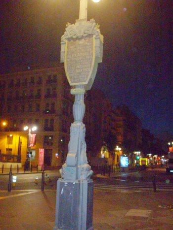 Марсилия, табела на лобното място на крал Александър и Барту