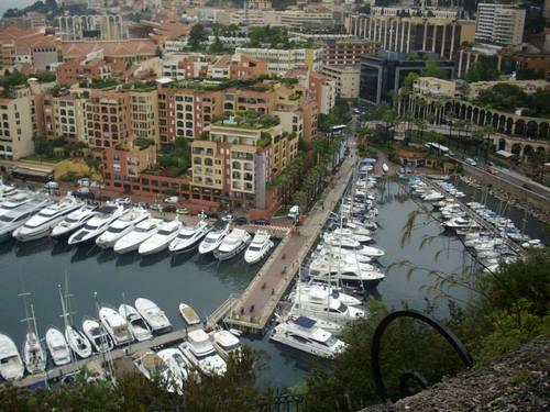 Монако, изглед от Двореца към залива