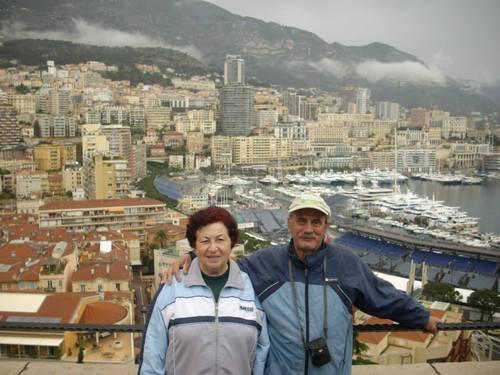 Монако, ние на фона на града