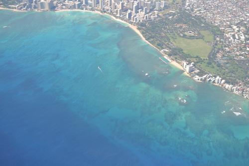 Хаваи, над плажа Уайкики