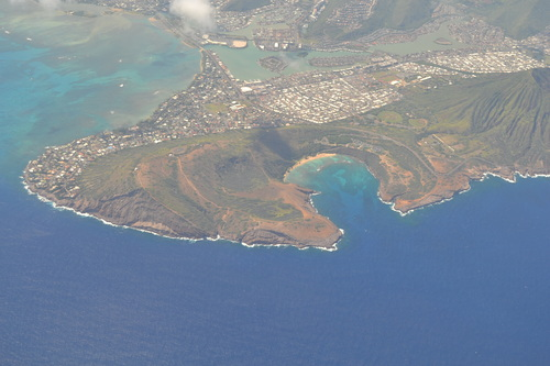 Хаваи, над Ханаума бей