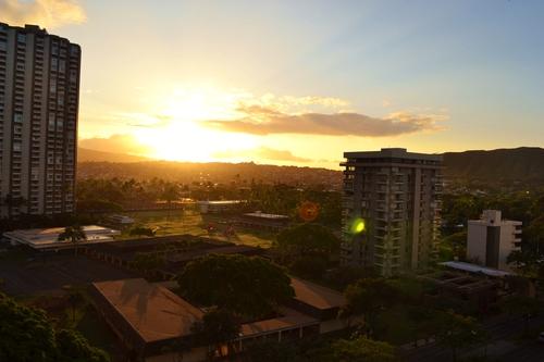 Хаваи, гледка от хотела