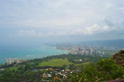 Хаваи, гледка от върха към плажа Уайкики