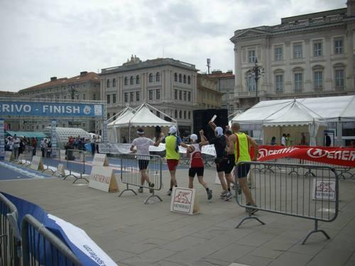 Италия, Триест, финалът на маратона
