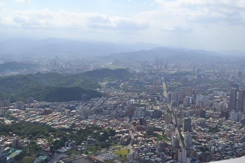 Тайпе 101, панорама към Тайпе