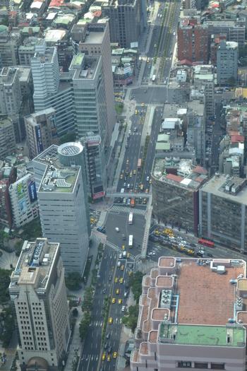 Тайпе 101, Изглед към булеварда