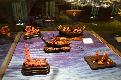 Тайпе 101, изложбената зала с корали