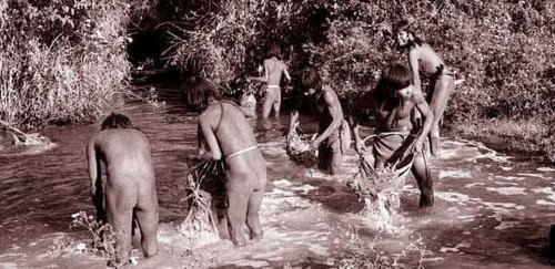 Риболов със слабо токсични мрежи – практика за много племена в Амазонка