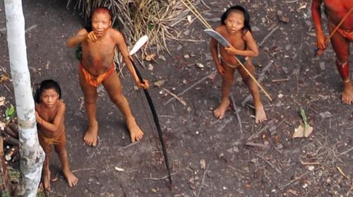 Преди 3 години Бразилска институция успя да заснеме от хеликоптер реакцията на племе в Амазония, с което досега не е осъществяван никакъв контакт. Изумените лица на индианците бързо обиколиха световните медии. Универсалният жест на посочване с пръст и огромно мачете в ръцете на дете – етнолозите отчетоха много културни прилики и различия, които тепърва предстои да се проучат.