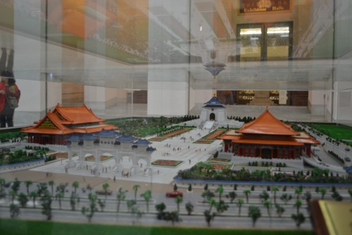 Тайпе, мемориал Чан Кай Шек, макет на целия площад на комплекса