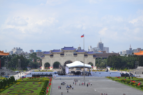 Тайпе, мемориал Чан Кай Шек, сцена на площада