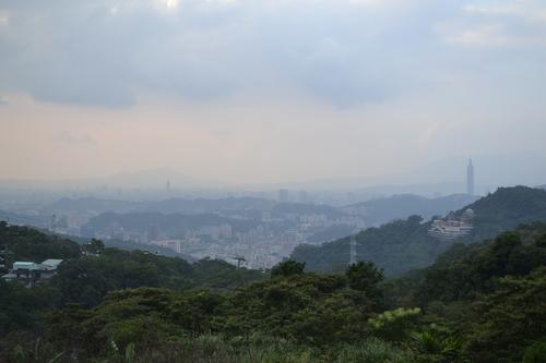 Тайпе, Маоконг, гледката към града на свечеряване