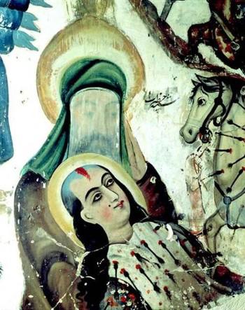 Иран, стенопис за първият  шийтски  имам Али