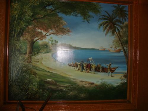 Испанците пристигат в залива Субик