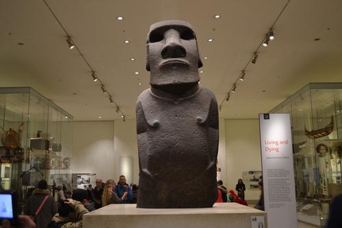 Лондон, Британският музей, статуя от Великденските острови