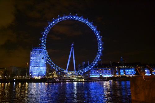 Лондон, Окото на Лондон, по тъмно
