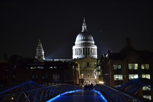 Лондон, Катедралата Свети Павел, по тъмно