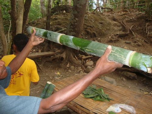 Филипини, капачето е прилепнало плътно на мястото си