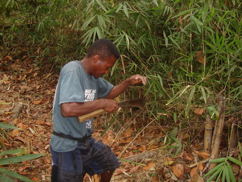 и бамбуковата пръчка мигом се превръща във флейта...
