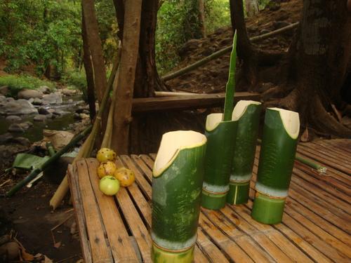 чашите от бамбук с извивка за носа