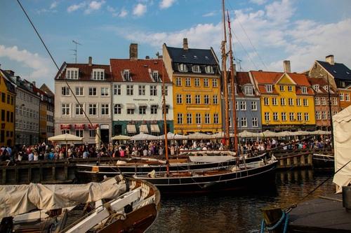 Дания, Копенхаген, пристанището Nyhavn