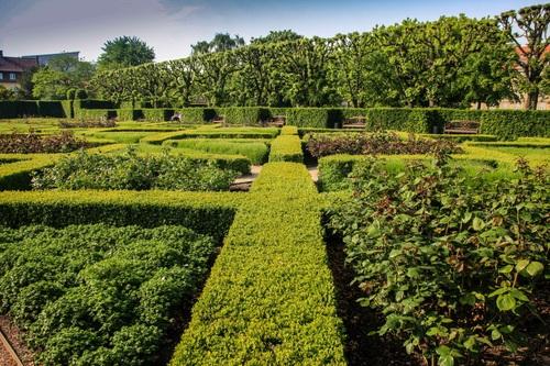 Дания, Копенхаген, дворец Rosenborg castle, градините
