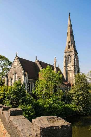 """Дания, Копенхаген, Англиканската църква """"St.Alban"""