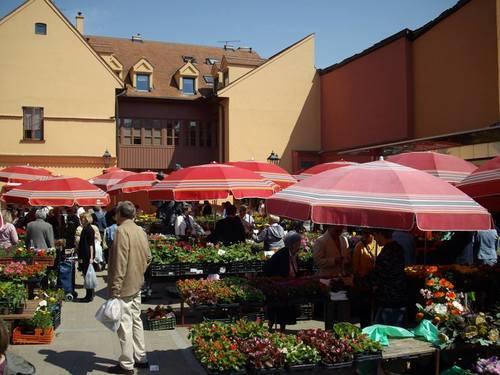 Загреб. Цветния пазар.