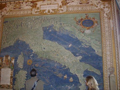 Удивително точна карта на Италия от 16-ти век