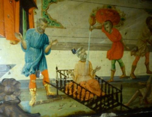 """Чудото с Андроник III Палеолог, според от иконата от малката църква ,,Успение Богородично"""", Варна."""