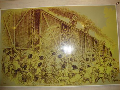 """Филипините, картината  """"Хвърлянето на храна"""""""