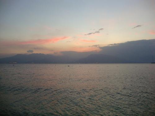 морски залез