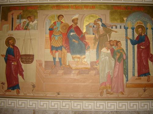 Бягството на св.Павел, Наклеветяването на св. Павел от юдейте и Проповед в Дамаск
