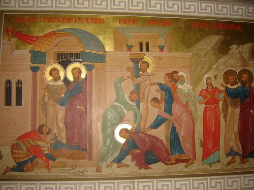 Чудесното освобождение от тъмницата, Пребиването на апостолите Сила и Павел, Изцелението на прорицателката