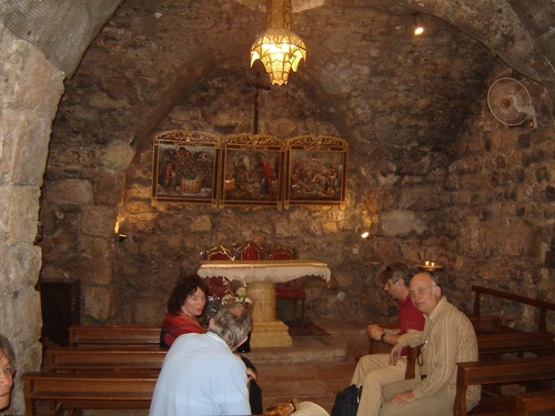 Дамаск, подземният параклис