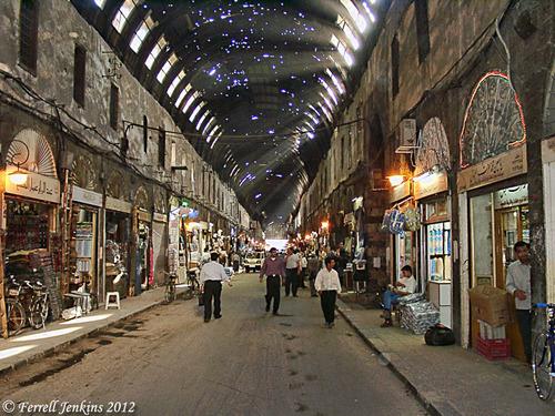 Дамаск, покритият пазар Медхат Паша Сук