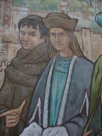 вляво – Крис Рафъл като монах