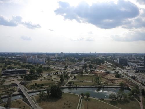изглед от наблюдателната площадка на покрива