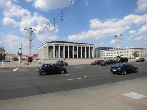 Палатът на републиката или с други думи работното място на Лукашенко