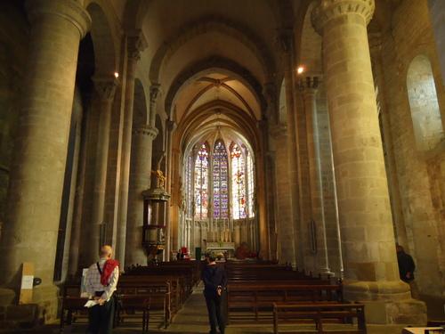 Църквата в крепостта Каркасон отвътре