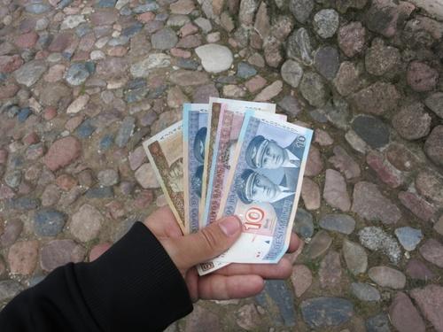 Не може без снимка с парите...
