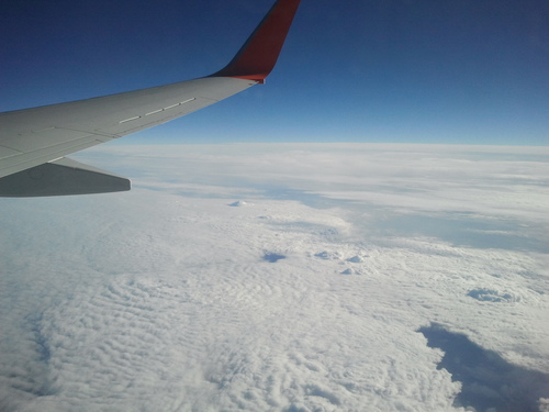Към Москва, от самолета