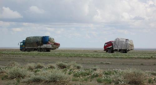 В Монголия камионите бяха натоварени с разнообразни стоки и с максимално натъпкани каросерии