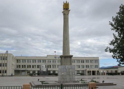 Централният градски площад на Баянхонгор