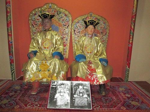 Експонат в Националния музей на историята на Монголия