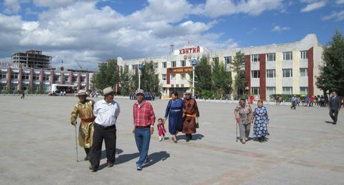 Монголците се събират на площада за тържественото честване на годишнината