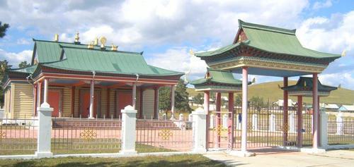 Будисткия манастир (дацан) край Агинское